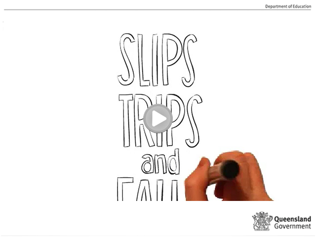 Slips, trips and falls video